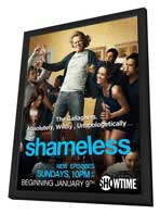 Shameless (TV) - 11 x 17 TV Poster - Style A - in Deluxe Wood Frame