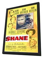 Shane - 11 x 17 Movie Poster - Style A - in Deluxe Wood Frame