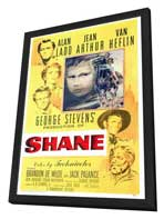 Shane - 27 x 40 Movie Poster - Style E - in Deluxe Wood Frame