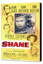 Shane - 11 x 17 Movie Poster - Style A - Museum Wrapped Canvas