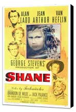 Shane - 27 x 40 Movie Poster - Style E - Museum Wrapped Canvas