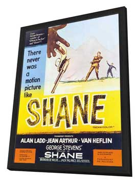 Shane - 27 x 40 Movie Poster - Style A - in Deluxe Wood Frame