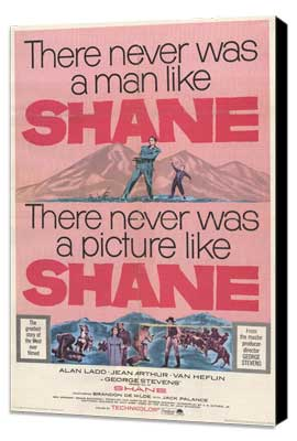 Shane - 11 x 17 Movie Poster - Style E - Museum Wrapped Canvas