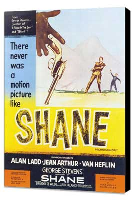 Shane - 27 x 40 Movie Poster - Style A - Museum Wrapped Canvas