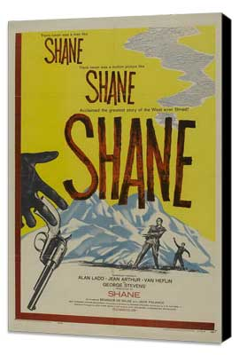 Shane - 27 x 40 Movie Poster - Style B - Museum Wrapped Canvas