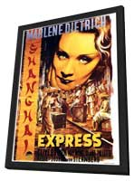 Shanghai Express - 11 x 17 Movie Poster - Style B - in Deluxe Wood Frame
