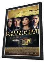Shanghai - 27 x 40 Movie Poster - Style A - in Deluxe Wood Frame