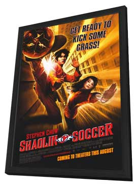 Shaolin Soccer - 11 x 17 Movie Poster - Style A - in Deluxe Wood Frame