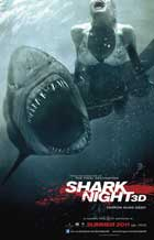 Shark Night 3D - 27 x 40 Movie Poster - Style A