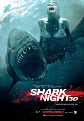 Shark Night 3D - 11 x 17 Movie Poster - Canadian Style B