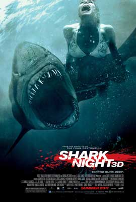 Shark Night 3D - 43 x 62 Movie Poster - Bus Shelter Style A