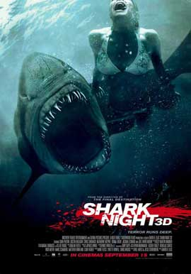 Shark Night 3D - 11 x 17 Movie Poster - New Zealand Style A