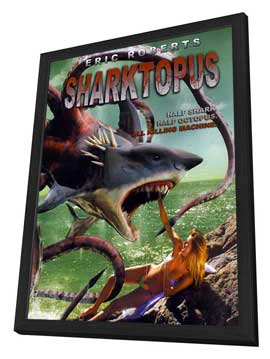 Sharktopus - 11 x 17 Movie Poster - Style A - in Deluxe Wood Frame