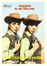 Sharp-Shooting Twin Sisters - 11 x 17 Movie Poster - Spanish Style A