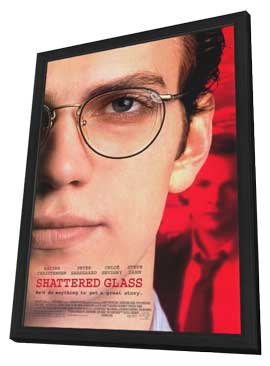 Shattered Glass - 11 x 17 Movie Poster - Style A - in Deluxe Wood Frame