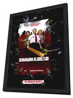 Shaun of the Dead - 27 x 40 Movie Poster - Style B - in Deluxe Wood Frame