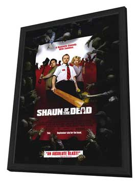 Shaun of the Dead - 11 x 17 Movie Poster - Style B - in Deluxe Wood Frame
