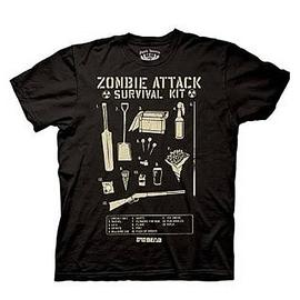 Shaun of the Dead - Zombie Attack Survival Kit T-Shirt