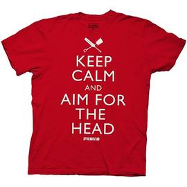 Shaun of the Dead - Keep Calm and Aim for the Head Red T-Shirt
