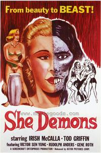 She Demons - 43 x 62 Movie Poster - Bus Shelter Style A