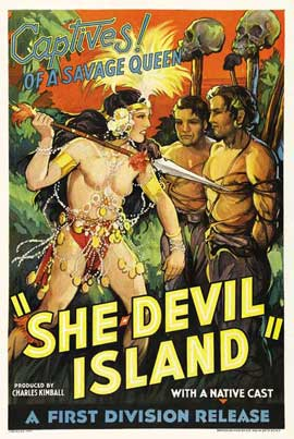 She-Devil Island - 11 x 17 Movie Poster - Style B