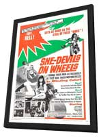 She-Devils on Wheels - 11 x 17 Movie Poster - Style A - in Deluxe Wood Frame