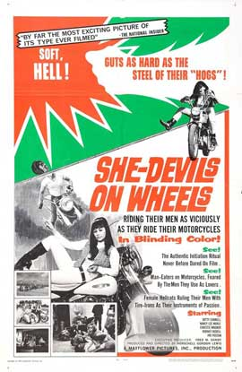 She-Devils on Wheels - 27 x 40 Movie Poster - Style A