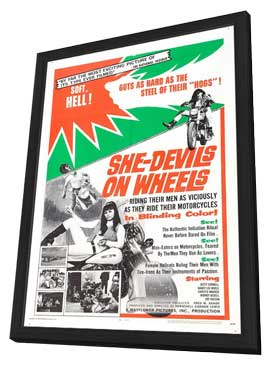 She-Devils on Wheels - 27 x 40 Movie Poster - Style A - in Deluxe Wood Frame