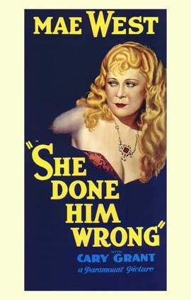 She Done Him Wrong - 11 x 17 Movie Poster - Style B