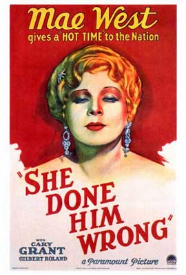 She Done Him Wrong - 27 x 40 Movie Poster - Style A