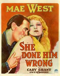 She Done Him Wrong - 11 x 17 Movie Poster - Style C