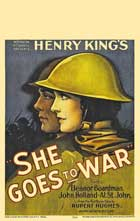 She Goes to War - 11 x 17 Movie Poster - Style A