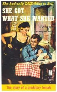 She Got What She Wanted - 11 x 17 Retro Book Cover Poster