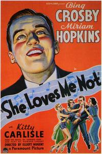 She Loves Me Not - 43 x 62 Movie Poster - Bus Shelter Style A