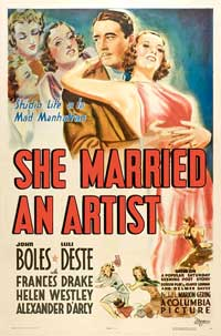 She Married an Artist - 11 x 17 Movie Poster - Style A