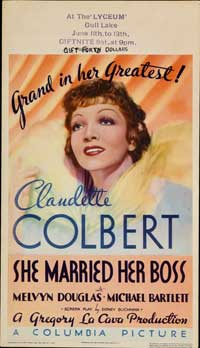 She Married Her Boss - 14 x 22 Movie Poster - Window Card