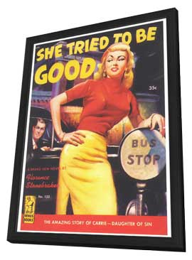 She Tried to be Good - 11 x 17 Retro Book Cover Poster - in Deluxe Wood Frame