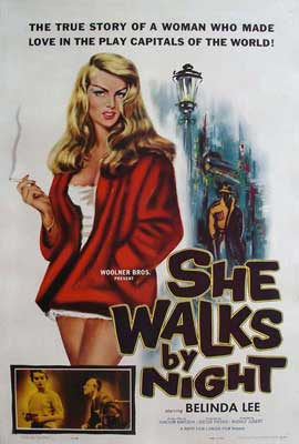 She Walks By Night - 11 x 17 Movie Poster - Style A