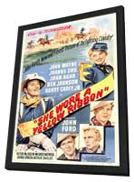She Wore a Yellow Ribbon - 11 x 17 Movie Poster - Style A - in Deluxe Wood Frame