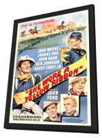 She Wore a Yellow Ribbon - 27 x 40 Movie Poster - Style A - in Deluxe Wood Frame