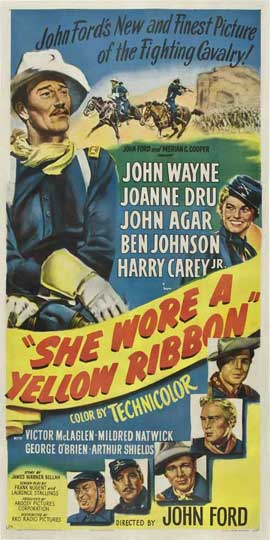 She Wore a Yellow Ribbon - 20 x 40 Movie Poster - Style A