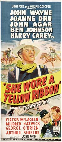 She Wore a Yellow Ribbon - 13 x 30 Movie Poster - Australian Style A