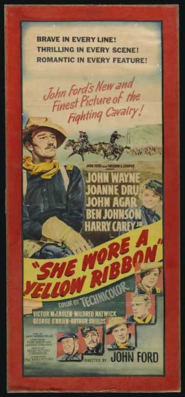 She Wore a Yellow Ribbon - 14 x 30 Movie Poster - Style A