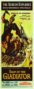 Sheba and the Gladiator - 14 x 36 Movie Poster - Insert Style A
