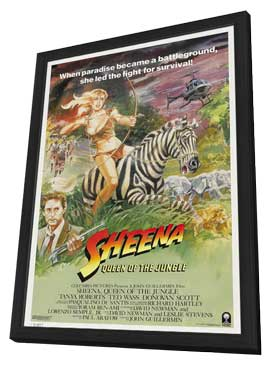 Sheena - 11 x 17 Movie Poster - Style B - in Deluxe Wood Frame