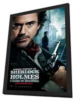 Sherlock Holmes A Game of Shadows - 11 x 17 Movie Poster - Style A - in Deluxe Wood Frame