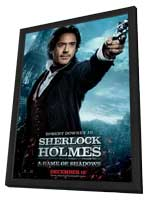 Sherlock Holmes A Game of Shadows - 11 x 17 Movie Poster - Style H - in Deluxe Wood Frame