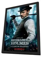 Sherlock Holmes A Game of Shadows - 11 x 17 Movie Poster - Style I - in Deluxe Wood Frame