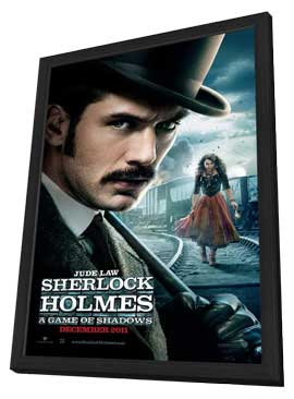 Sherlock Holmes A Game of Shadows - 11 x 17 Movie Poster - Style B - in Deluxe Wood Frame