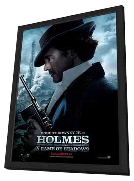 Sherlock Holmes A Game of Shadows - 11 x 17 Movie Poster - Style D - in Deluxe Wood Frame